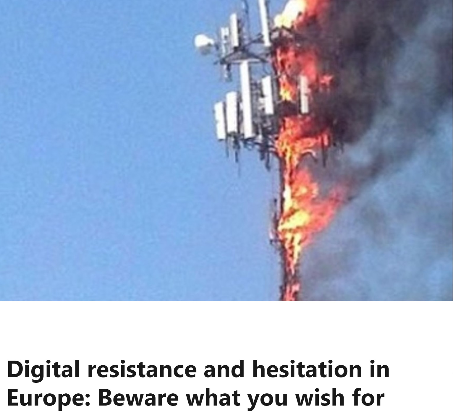 Digital resistance and hesitation in Europe: Beware what you wish for (on LinkedIn)